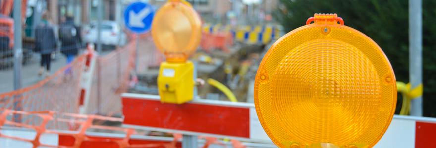 matériel de signalisation de chantier